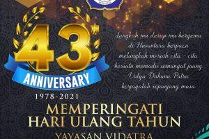 Selamat HUT Yayasan Vidatra ke-43!!!